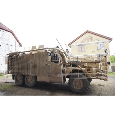 A Mastiff 6x6 armored patrol vehicle of the British Army Canvas Art - Andrew ChittockStocktrek Images (17 x 12)