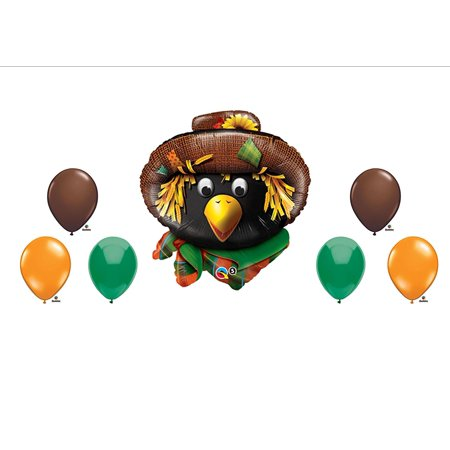 Scarecrow Fall Halloween Party Balloons Decorations Supplies, Scarecrow Fall Festival Halloween Birthday Party Balloon Decorating Kit By - Fall Balloons