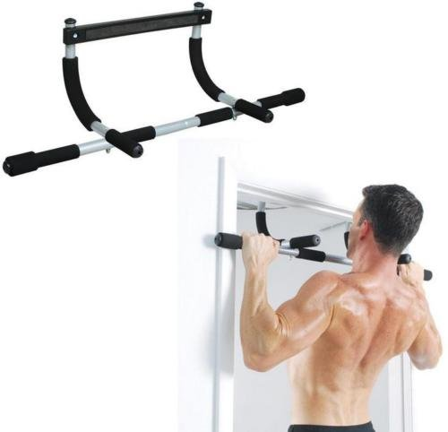 Heavy Duty Doorway Chin Pull Up Bar Exercise Fitness Gym Home Door Mounted  sc 1 st  Walmart : door exercise bar - pezcame.com