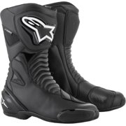 Alpinestars SMX-S Mens Waterproof Motorcycle Boots Black/Black