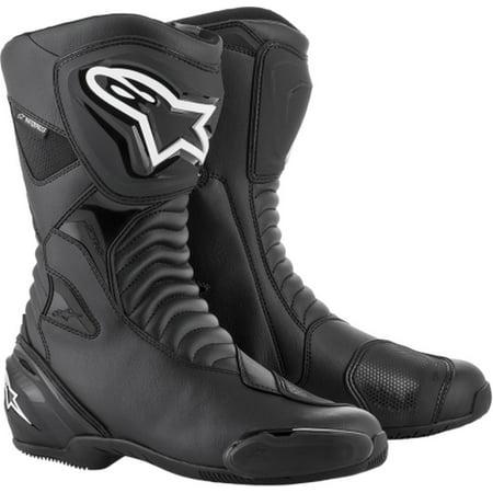 Alpinestars Smx 1 Riding Motorcycle - Alpinestars SMX-S Mens Waterproof Motorcycle Boots Black/Black