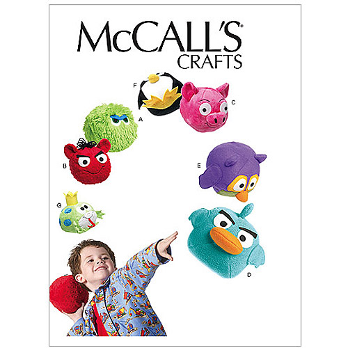 McCall's Pattern Stuffed Toys, 1 Size Only