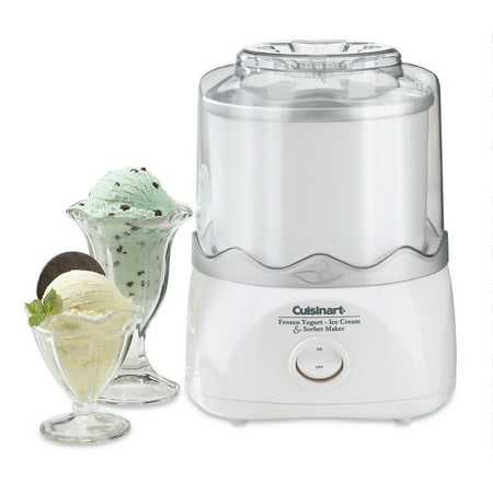 Cuisinart ICE 20 Automatic 1 2 Quart Ice Cream Maker WhiteCertified Refurbished