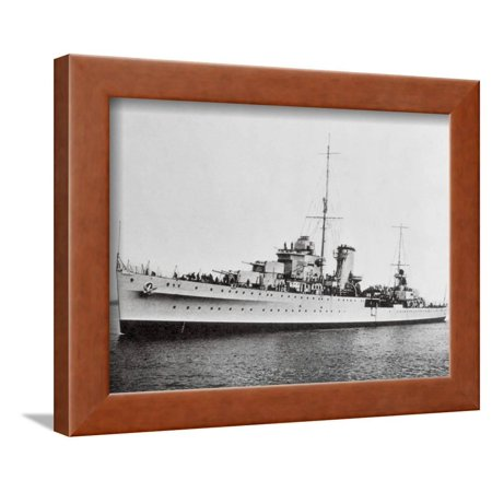 Portrait of Large Ship Ajax Offshore Framed Print Wall Art