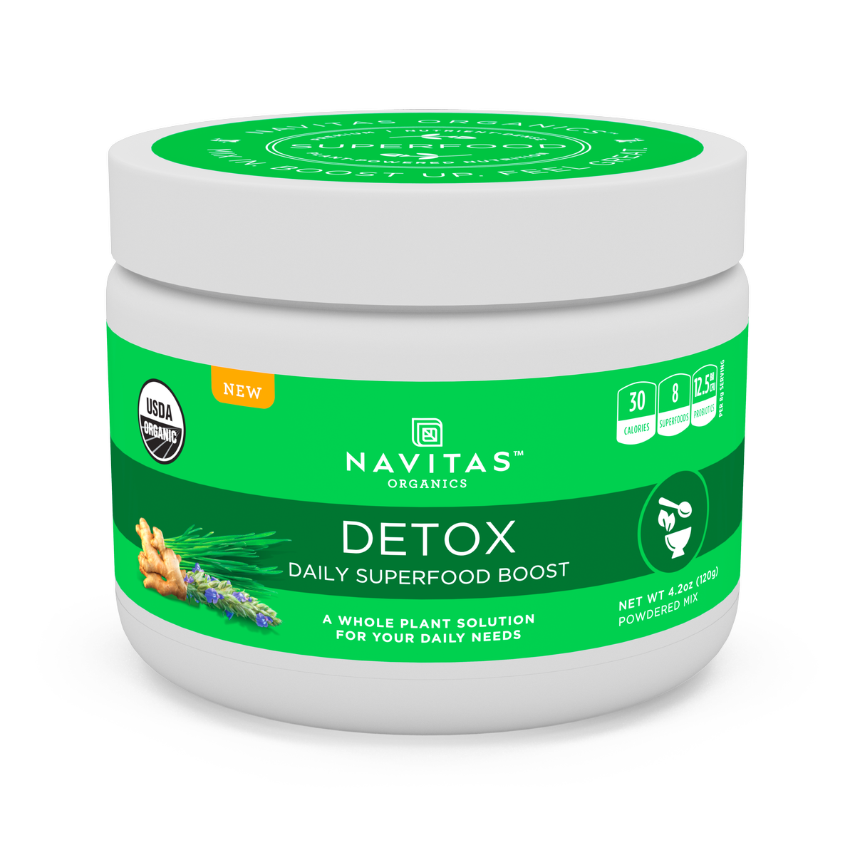 Navitas Organics Daily Detox Superfood Powder, 4.2 Oz, 15 Servings