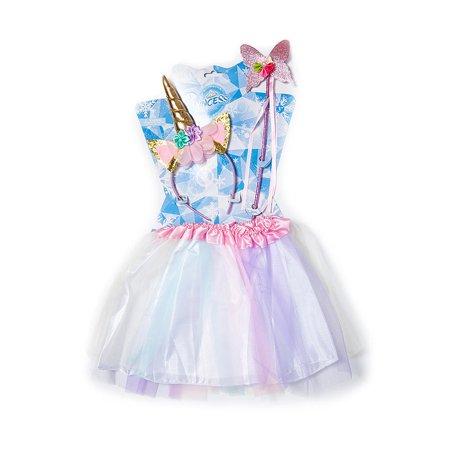 85fbcf598bac7 Girls Tutu Skirt with Headband and Wand Party Unicorn Costumes Set,  Colorful - LIVINGbasics™ | Walmart Canada