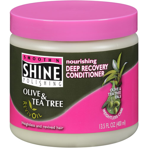 Smooth 'N Shine Polishing Olive & Tea Tree RevivOil Deep Recovery Conditioner, 13.5 oz