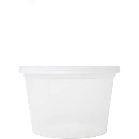 EDI-Round Deli Containers (16 oz, 25)