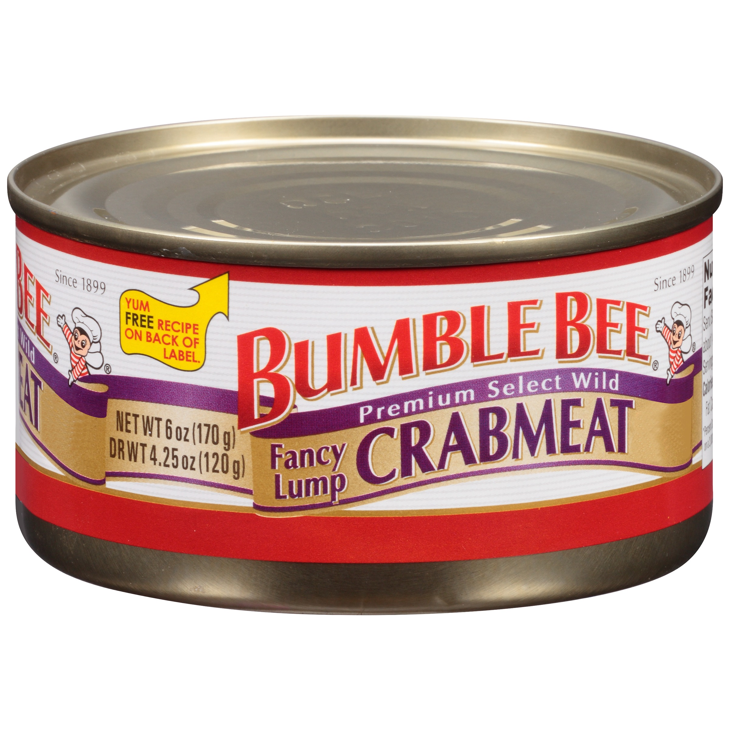 Bumble Bee Fancy Lump Crabmeat, 6.0 OZ by Bumble Bee Seafoods