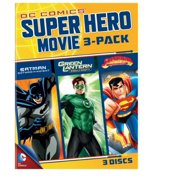 DC Superheroes Movies 3-Pack: Batman: Gotham Knight   Green Lantern: Emerald Knights   Superman: A Little Piece Of Home... by WARNER HOME ENTERTAINMENT