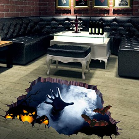 Highpot Halloween Household Room Floor 3D Wall Sticker Mural Decor Decal Removable](Halloween Wall Decor)