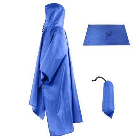 3 In 1 Multifunctional Raincoat Outdoor Travel Rain Poncho Rain Cover Waterproof Tent Awning Camping Hiking Sleeping Bag Hot Sleeping Bags