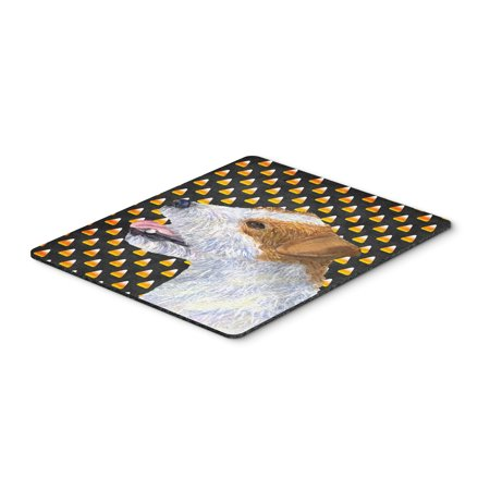 Jack Russell Terrier Candy Corn Halloween Portrait Mouse Pad, Hot Pad or Trivet