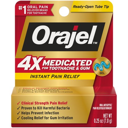 Orajel 4X Medicated For Toothache & Gum Gel,