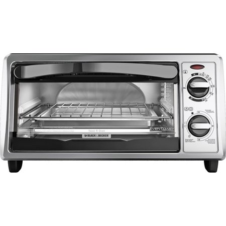 Black & Decker 4-Slice 2-Knob Toaster Oven, Silver by