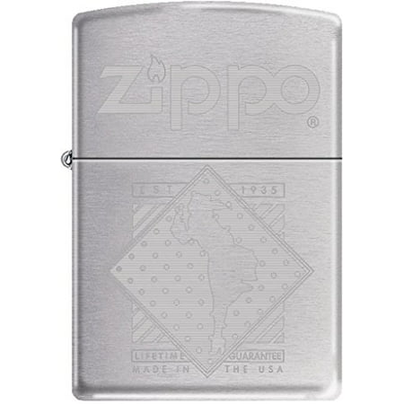 Zippo Windy Girl In a Diamond Satin Chrome Auto Engrave Windproof Lighter Chrome Chrome Zippo Lighter