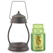 Hurricane Oil Rubbed Bronze Candle Warmer Gift Set - Warmer and Courtneys 26 oz Jar Candle - EUCALYPTUS