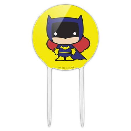 Batgirl Party Supplies (Acrylic Batman Batgirl Cute Chibi Character Cake Topper Party Decoration for Wedding Anniversary Birthday)