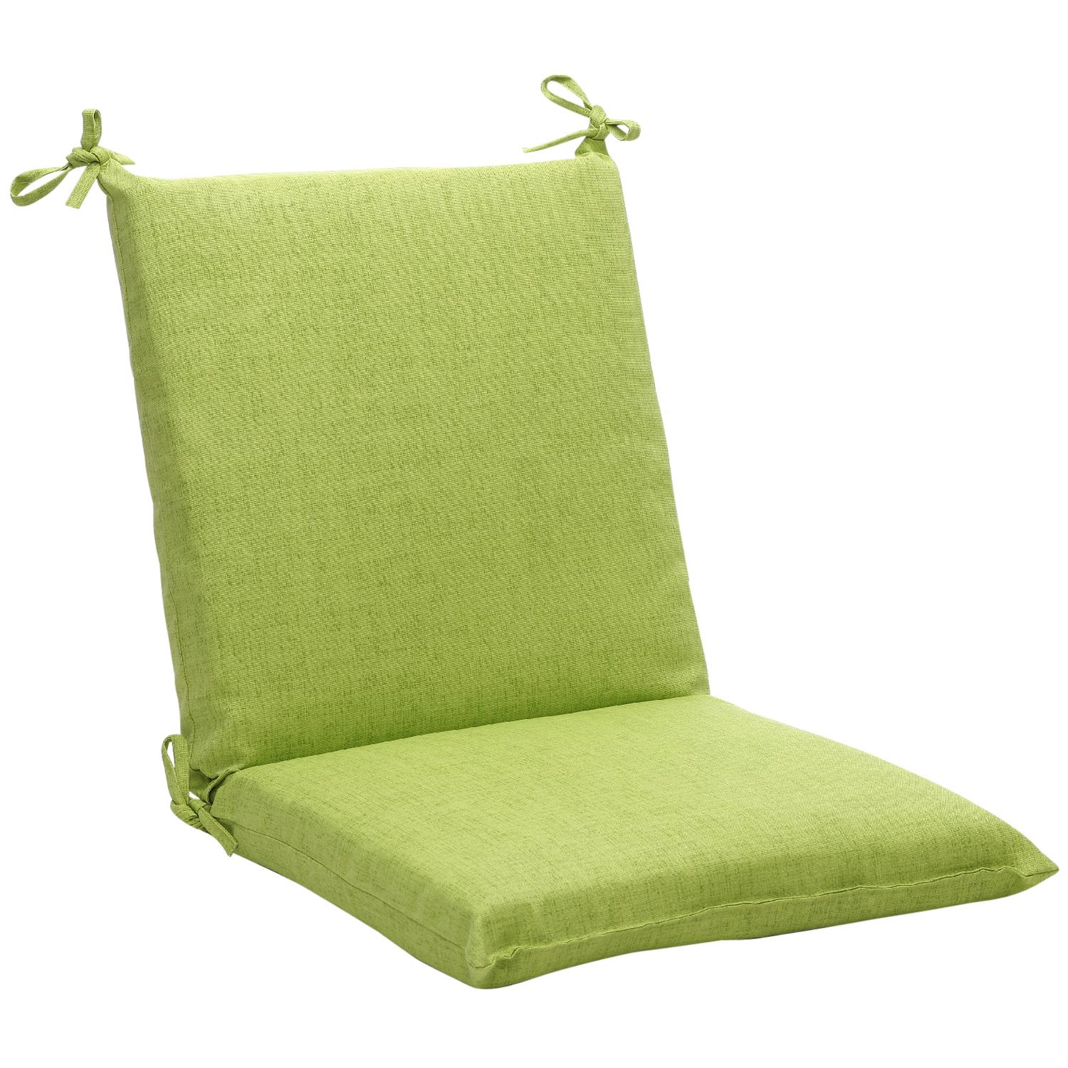 "36.5"" Eco-Friendly Recycled Square Outdoor Chair Cushion - Textured Green"