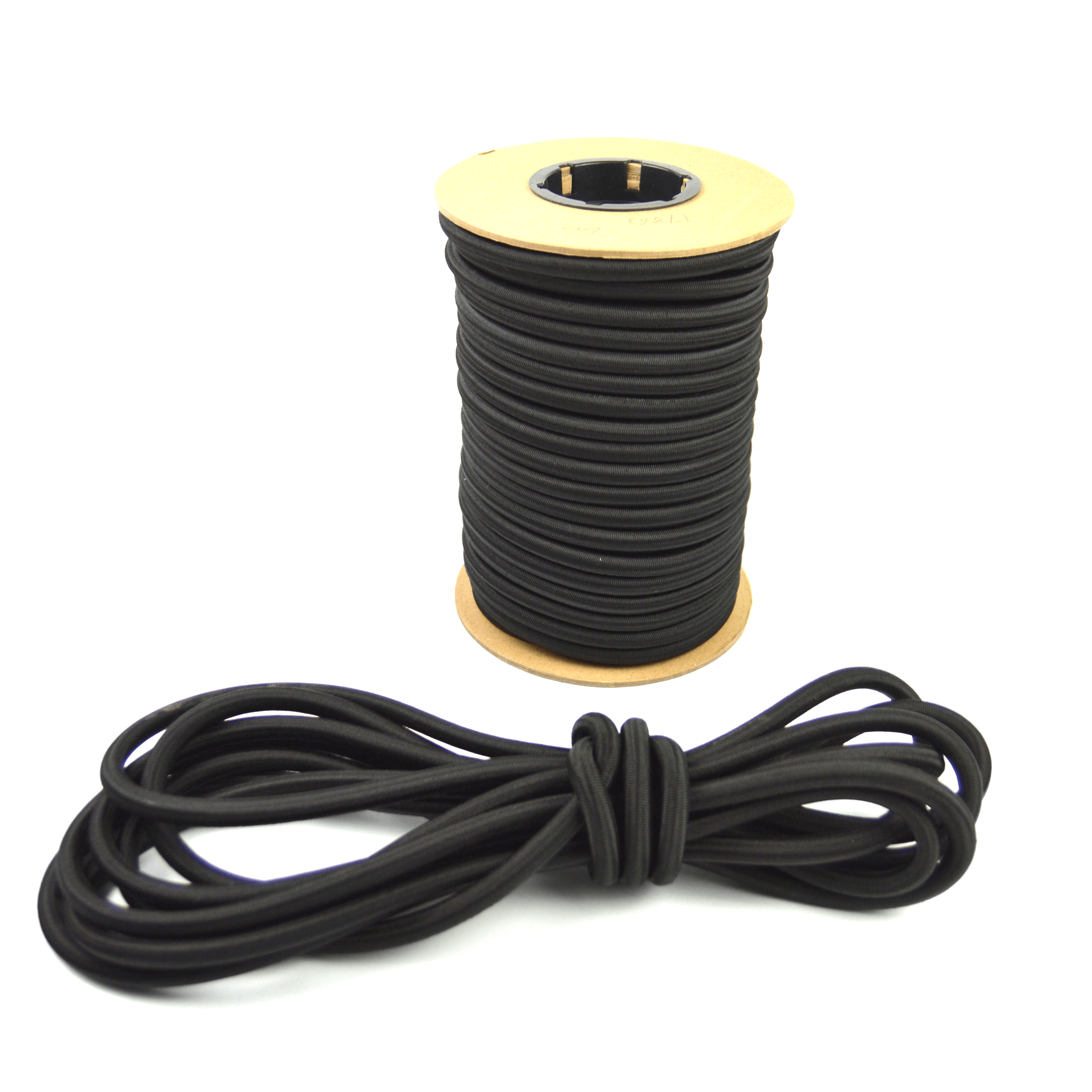 """25ft of Marine Masters 1/2"""" Black Bungee Shock Cord - Elastic Stretch Rope"""