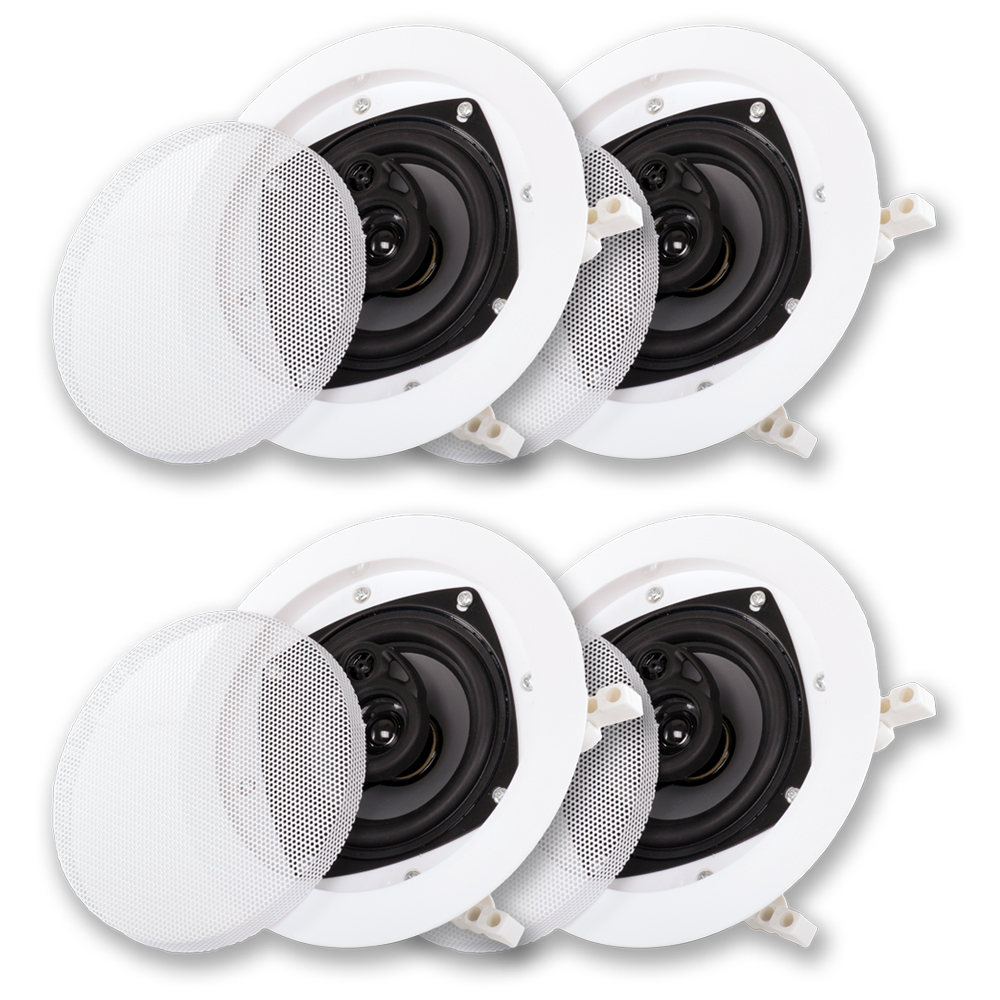 Acoustic Audio CS-IC43 In Ceiling Speakers 2 Pair Pack 3 Way Home Theater