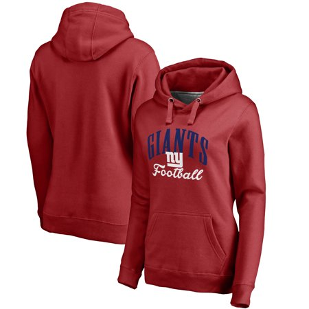 28fd9041 New York Giants NFL Pro Line Women's Victory Script Pullover Hoodie - Red