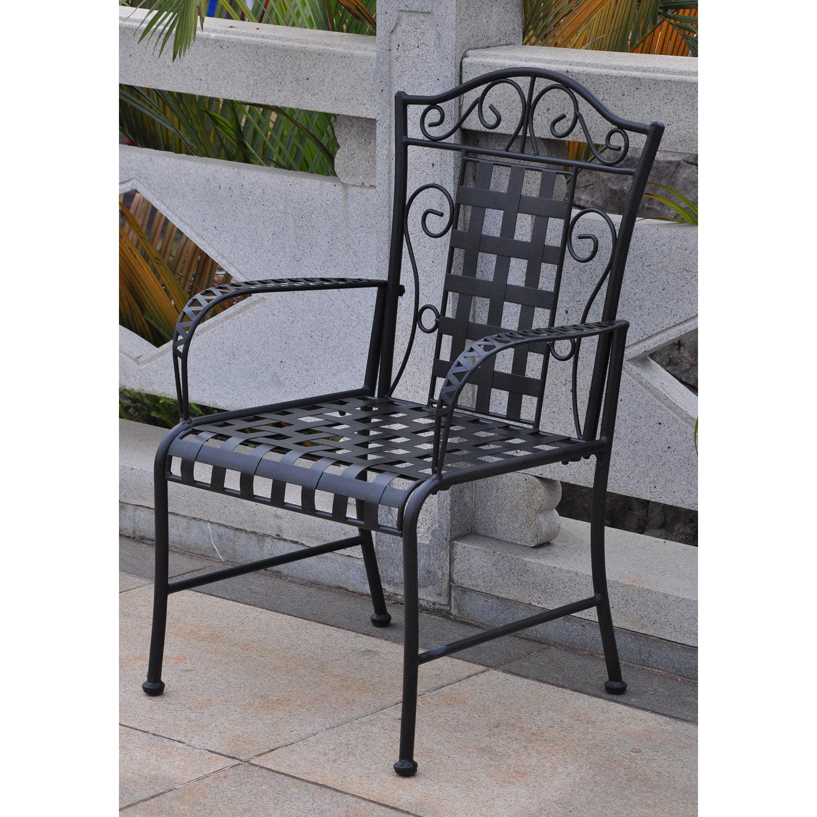 International Caravan Mandalay Iron Patio Chair - Set of 2