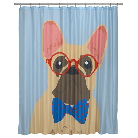 Mainstays French Bulldog Shower Curtain