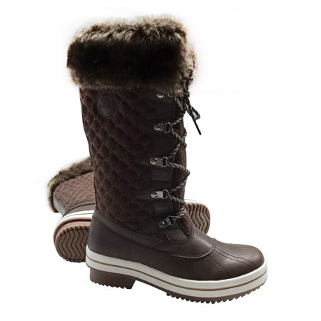 ArcticShield Women's Melissa Warm Waterproof Insulated Fur Collar Durable Winter Snow Boots
