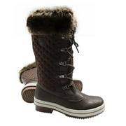 ArcticShield Women's Melissa Warm Waterproof Insulated Fur Collar Durable Winter Snow Boots