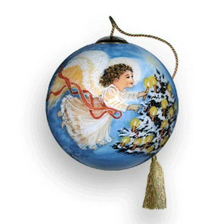 Ne 'Qwa Art 242-PT-DG Gentle Light Petite Hand-Painted Glass - Ne Qwa Halloween Ornaments