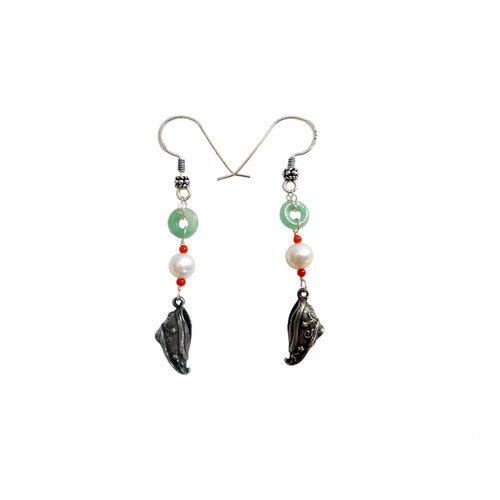 Vivian Yang Gemstone Chinese Graceful Drop Earrings