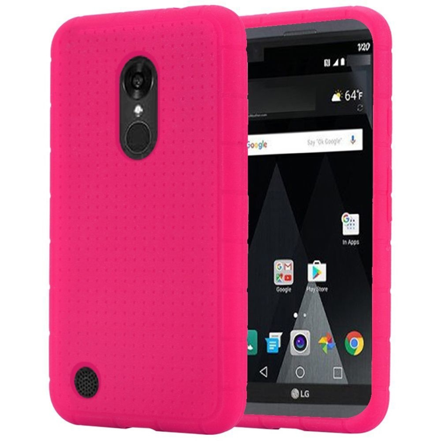 LG Aristo Phone Case, by Insten Rugged Rubber Silicone Soft Skin Gel Case Cover For LG Aristo / K8 2017 / LV3 / MS210