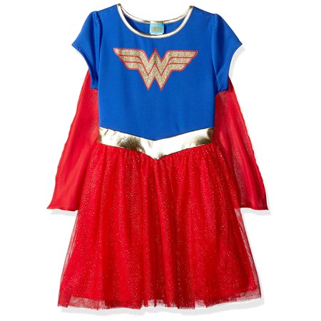 Toddler Girls Wonder Woman Costume Dress w/ Cape Cosplay Size 2T (Thomas The Train Costume 2t)
