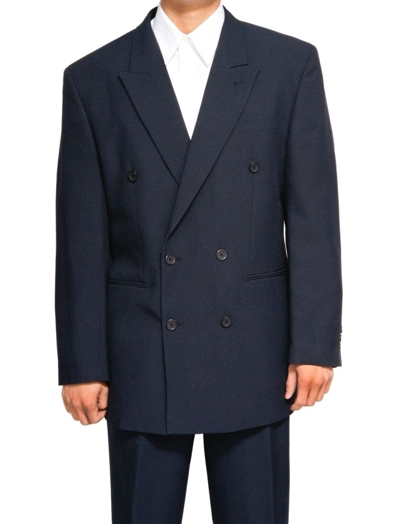 Mens Navy Blue Dress Suit - Includes Jacket & Pants