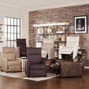 TRIBECCA HOME Saipan Modern Recliner Club Chair Tan Linen