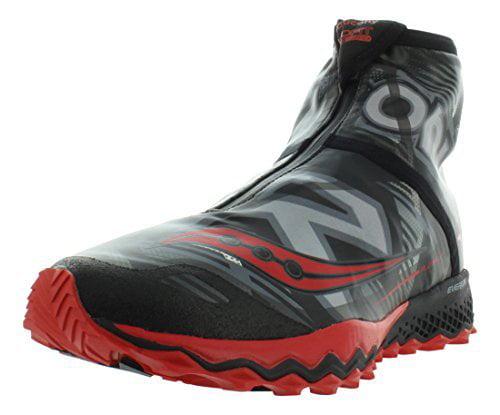 Saucony Men's Razor Ice+ Trail Running Shoe, Black White Blue, 11.5 M US by Saucony