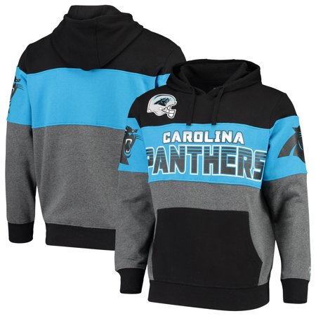 Carolina Panthers G-III Sports by Carl Banks Extreme Special Team Pullover Hoodie - Black/Charcoal Carolina Panthers Hoodie