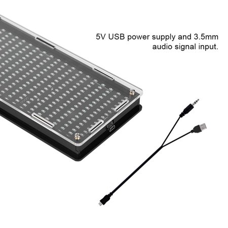 Mgaxyff DIY Kits 384Pcs LED Lights Digital Audio Music Spectrum Analyzer Display with Shell, led spectrum analyzer,audio spectrum