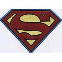 "Superman Logo - DC Comics Artwork Embroidered Iron On Patches, 5.5"" x 7.25"""