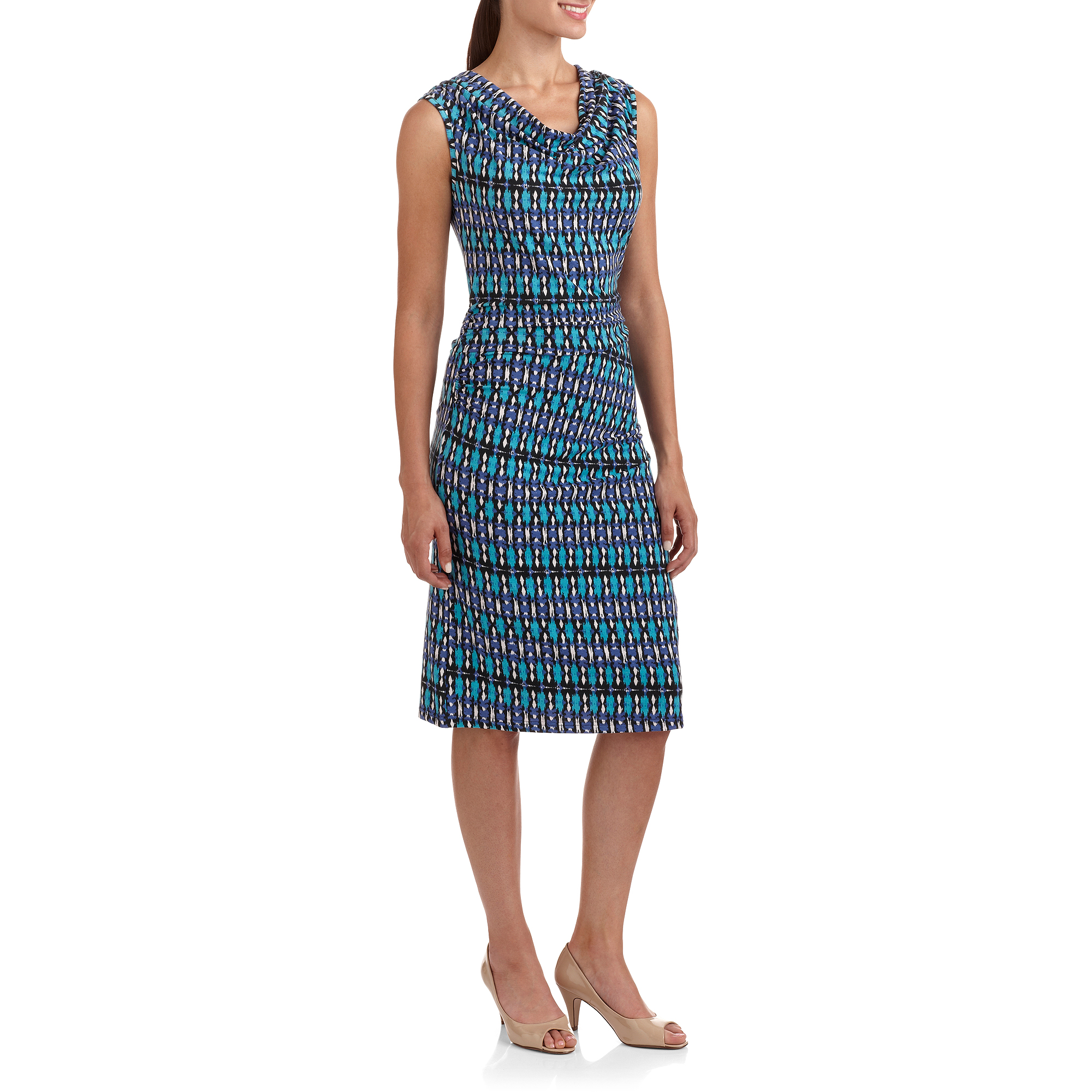 Full Circle Exchange Women's Shirred Drape Dress