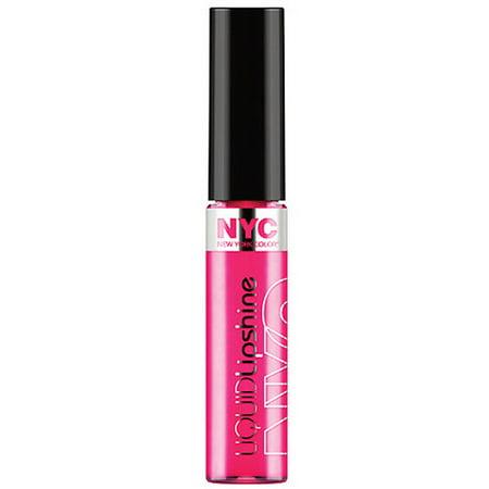Nyc New York Color Liquid Lip Shine  Fashion Ave Fuchsia  0 24 Fl Oz