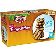 Keebler 100 Calorie Right Bites Mini Fudge Stripes Cookies, 0.74 Oz., 6 Count