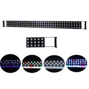 "BEAMNOVA 47"" 324W Triple-row Dimmable LED Aquarium Light Bar Hood Lighting Fixture with Adjustable Brackets for Indoor Coral Reef Fish Tank LPS SPS"
