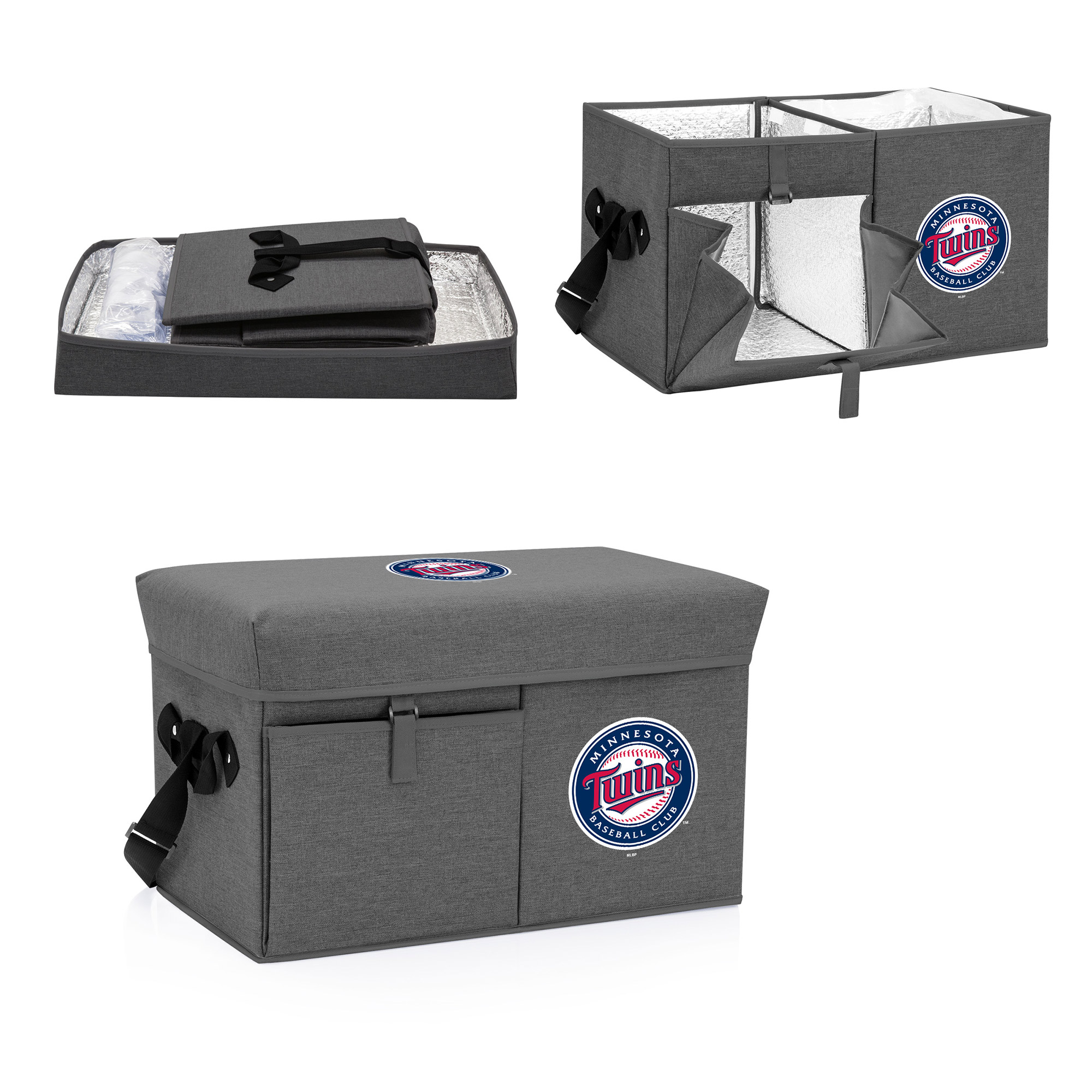 Minnesota Twins Ottoman Cooler & Seat - Gray - No Size