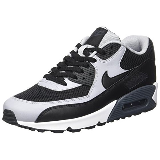 Nike Mens Air Max 90 Essential Running Shoes BlackWolf GreyAnthracite 537384 053 Size 7.5