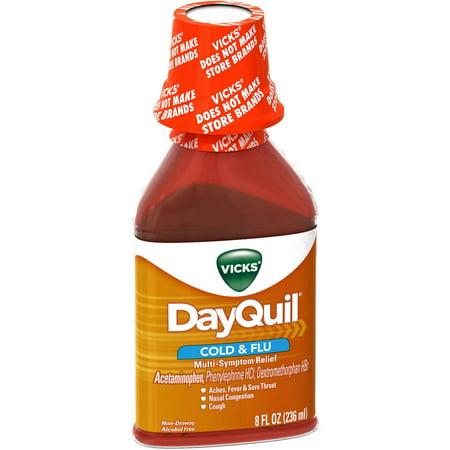 Vicks Rhume et grippe secours liquide, 8 FL OZ (Lot de 6)