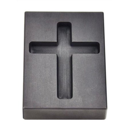 1 Troy Ounce Gold Cross Graphite Ingot Precious Metal Casting Melting Pouring Mold -
