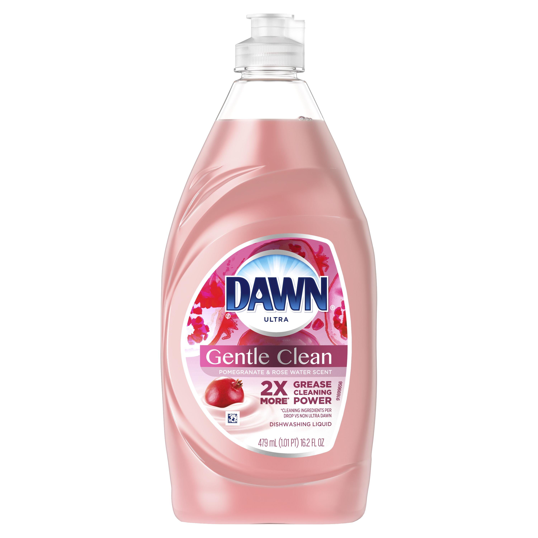 Dawn Ultra Gentle Clean Dishwashing Liquid Dish Soap, Pomegranate & Rose Water Scent, 16.2 fl oz