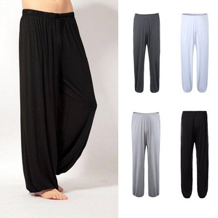Men Fashion Elastic Waist Sweatpants Casual Sport Trousers Walking Yoga Gym Long Pants